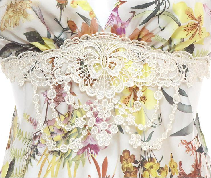Floral ボタニカル柄ベビードール